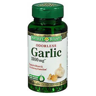 Príroda Bounty Natures Bounty Cesnak bez zápachu, 1000 mg, 24 X 100 Mäkké kapsuly