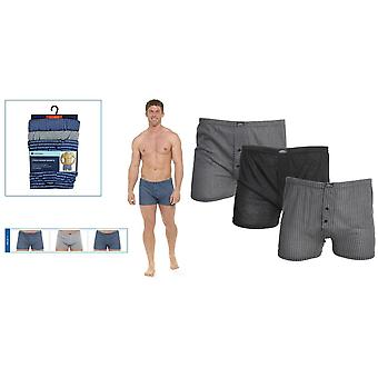 Tom Franks Mens Patterned Jersey Boxer Shorts (3 Pairs)