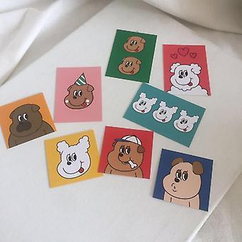 Adorável Cão Impresso, Cartões Decorativos Criativos