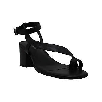 BCBGeneration Women's Shoes danni Leather Open Toe Casual Mule Sandals