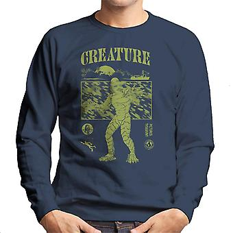 The Creature From The Black Lagoon Sunset Boat Men's Sweatshirt