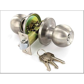 Securit Entrance Lock x 3 Keys Stainless Steel 60/70mm S2953