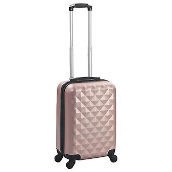 Hard-shell trolley rose gold ABS