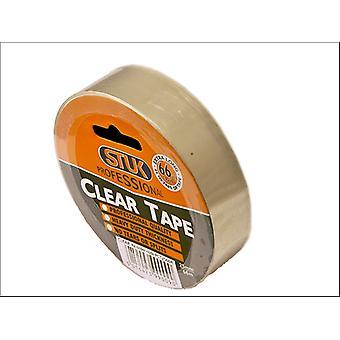 STUKプロフェッショナルクリアテープ25mm x 66m PCT2566R