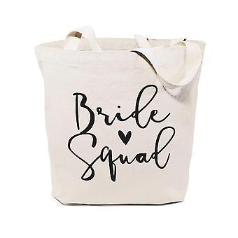 Sac de sac tote en toile de coton Bride Squad