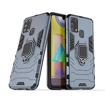 Keysion Samsung Galaxy A70 -kotelo - magneettinen iskunkestävä kotelon kansi TPU sininen + jalusta