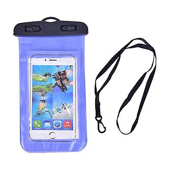 Waterproof Swimming Luminous Pouch With Lanyard