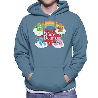 Care Bears On Clouds Men's Hooded Sweatshirt
