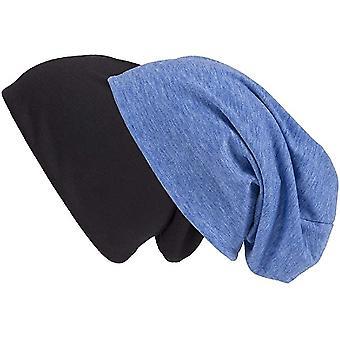 Set van 2 Blue-Melted en Black Jersey Long Slouches