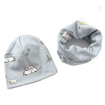 Cotton Plush Hat Scarf Set Cartoon Sheep Owl Stars Baby Hat Winter Hats