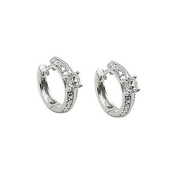 Hoop Earrings Zirconia-white Silver 925