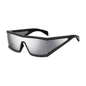 Moschino MOS004/S BSC/DC Schwarz-Silber/Silber Spiegel Sonnenbrille
