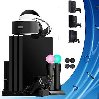 Controller Charging Dock For Ps4 Pro Slim / Ps -vertical-stand .cooling Fan