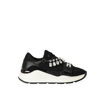 Elisabetta Franchi Ezgl026258 Women's Black Fabric Sneakers