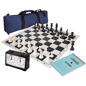 Chess Club Pack with Pieces, Board, Clock, Bag & Scorebook Black