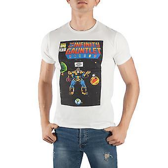 Marvel comics thanos the infinity gauntlet men's white t-shirt tee shirt