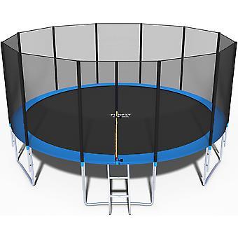 Trampoline 490 cm - met net en ladder - blauw - 16 Ft