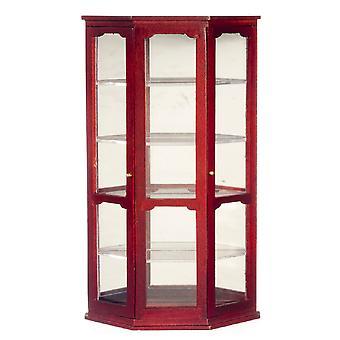 Panenky Dům miniaturní dřevěný nábytek zrcadlový Čína Curio Shop Vitrína Mahagon