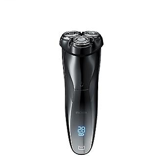 3d Electric Shaver Type-c Rechargeable Washable Razor 3 Blades Portable Trimmer