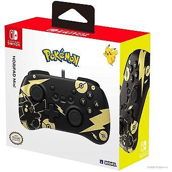 Pokemon Black and Gold Pikachu Nintendo Switch Mini Horipad