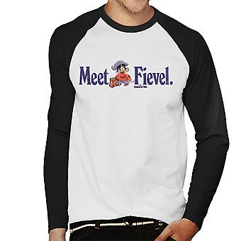 An American Tail Meet Fievel Mousekewitz Men's Baseball Long Sleeved T-Shirt