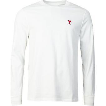 Koszulka z długim rękawem z logo Ami Heart