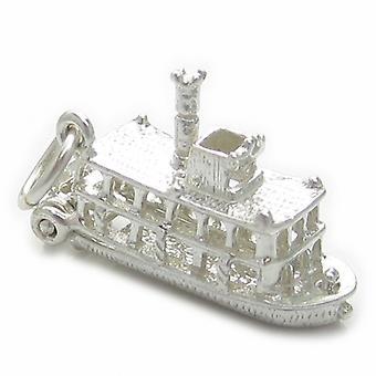 Padle damper båd sterling sølv charme 0,925 X 1 bevægelig padle - 4480