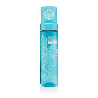 Sunkissed Clear Mousse 1 Hour Tan 200ml - 95% Natural Formula - Vegan - Cruelty Free - No Transfer - V2020