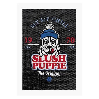 Slush Puppie Retro Sit Sip Chill A4 Print
