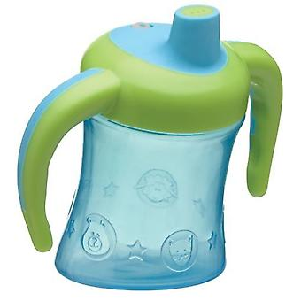 Playgro Glass with Blue and Yellow Handles to Learn to Drink