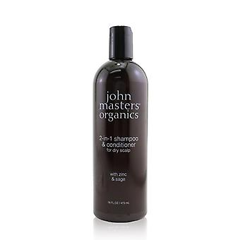 2-in-1 Shampoo & Conditioner For Dry Scalp With Zinc & Sage - 473ml/16oz