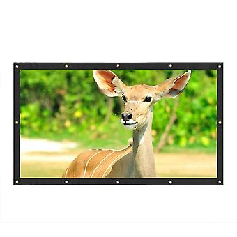 120 Inch Projector Screen 16:9 Fold Projector Screen for Home Meeting Room School Restaurant Bar wit