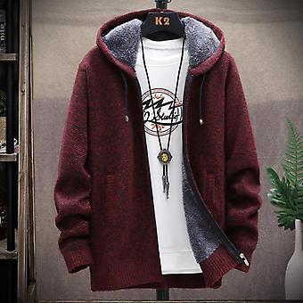 Manteaux épaississement tricotés Winter Men's, Pull homme, Cardigan Casual Keep Warm