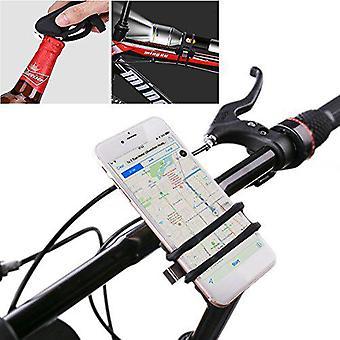 BIKIGHT הלם נגד לנער אופניים טלפון מחזיק אופניים מוט גומי רצועה עבור הטלפון החכם