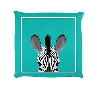 Inquisitive Creatures Zebra Filled Cushion