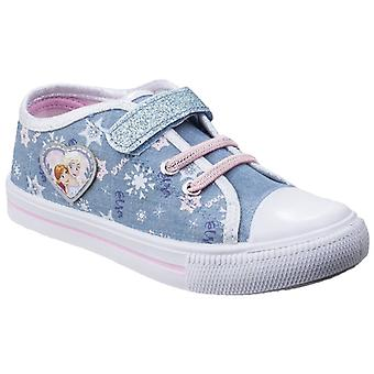 Leomil Childrens Girls Frozen Elsa Touch Fastening Canvas Trainers