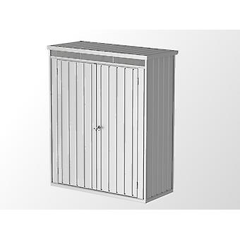 Metalen tuinhuis/Metalen kast 1,61x0,77x1,96m, 1,24m², Zilver