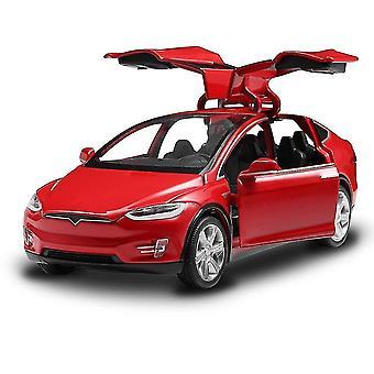 Diecast leksak 1:32 skala legering bilar för Tesla modell