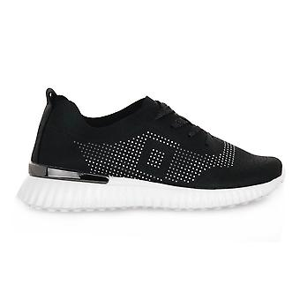 Grunland svarta f6vity skor
