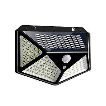 100 LED Solar Powered PIR Motion Sensor Light Outdoor GardenWall Light