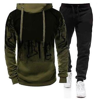Men's Autumn Winter Tracksuit Zipper Hoodie And Pants