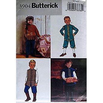 Butterick 3904 بويز ديفي كروكيت الأمريكية في وقت مبكر الأزياء الاستعمارية الخياطة نمط حجم 2-3-4-5 (الثدي 21-24)