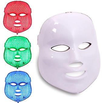 Máscara facial de terapia de fotones led - rejuvenecimiento de la piel