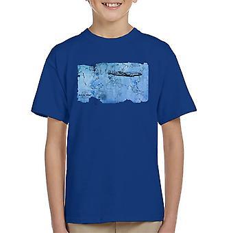 Pan Am World Map Kid's Camiseta