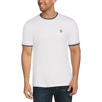 Original Penguin Sticker Pete Ringer T-Shirt - Bright White