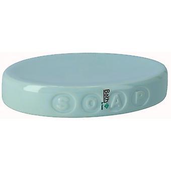 soap holder 15.5 x 10.6 cm ceramic green
