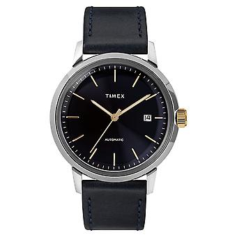 Montre Homme Timex 'Marlin Automatique' Boîtier SST 40mm en Acier Cadran Bleu foncé index doré - TW2T23100