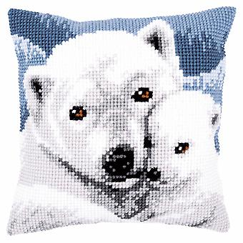 Vervaco Cross Stitch Kit: Coussin: Ours polaire