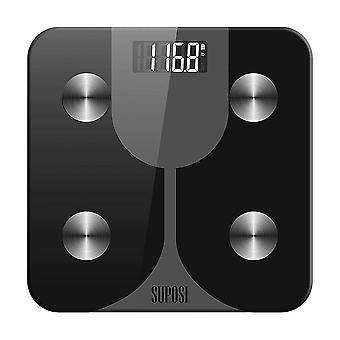 Bathroom Scales Digital Balance Body Fat Smart(Black)