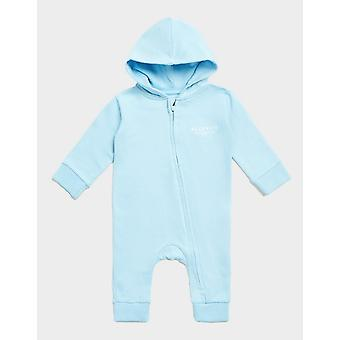New McKenzie Infant Micro Essential Hooded Coverall Blue